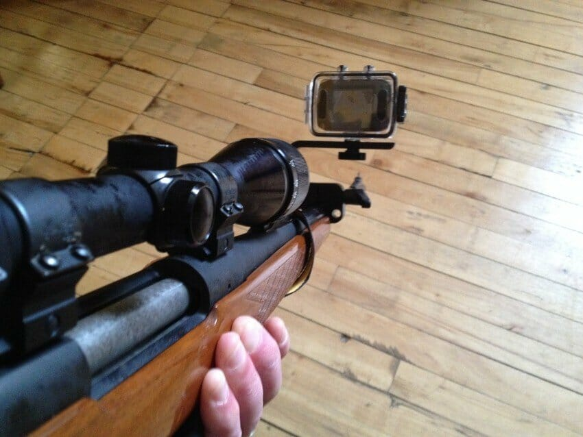 Attach A Cam camera mount on rifle
