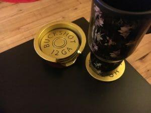 shotgun shell coaster set