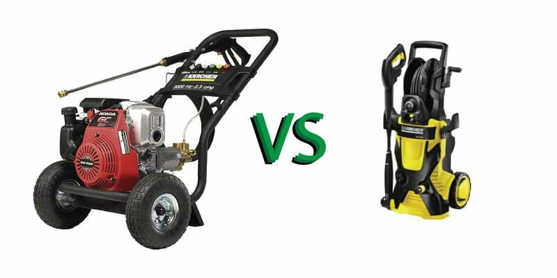 Electric vs Gas Pressure Washer Devices