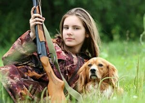Hunter, Girl, Dog, Hunting, Rifle, Gun, Nature, Weapon