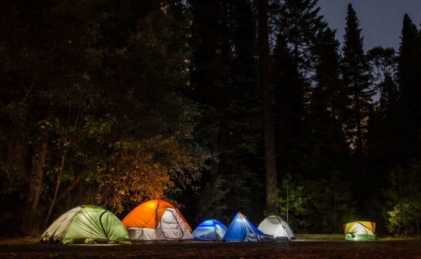 camping trip with kids