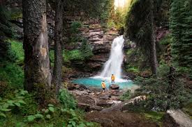 Image result for camping images with waterfall in background