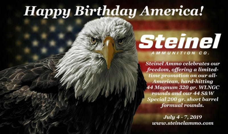 Steinel Ammunition Fourth of July Promo ammo, ammunition Firearms News