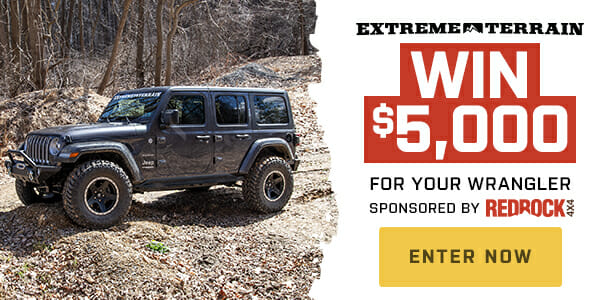 Win $5,000 for your Wrangler from RedRock 4x4 jeep giveaway, jeep parts Automotive News