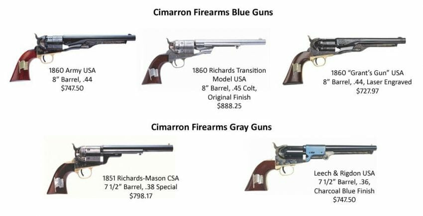 The Blue and The Gray Series of Commemorative Pistols firearms, replica pistol Outdoors News