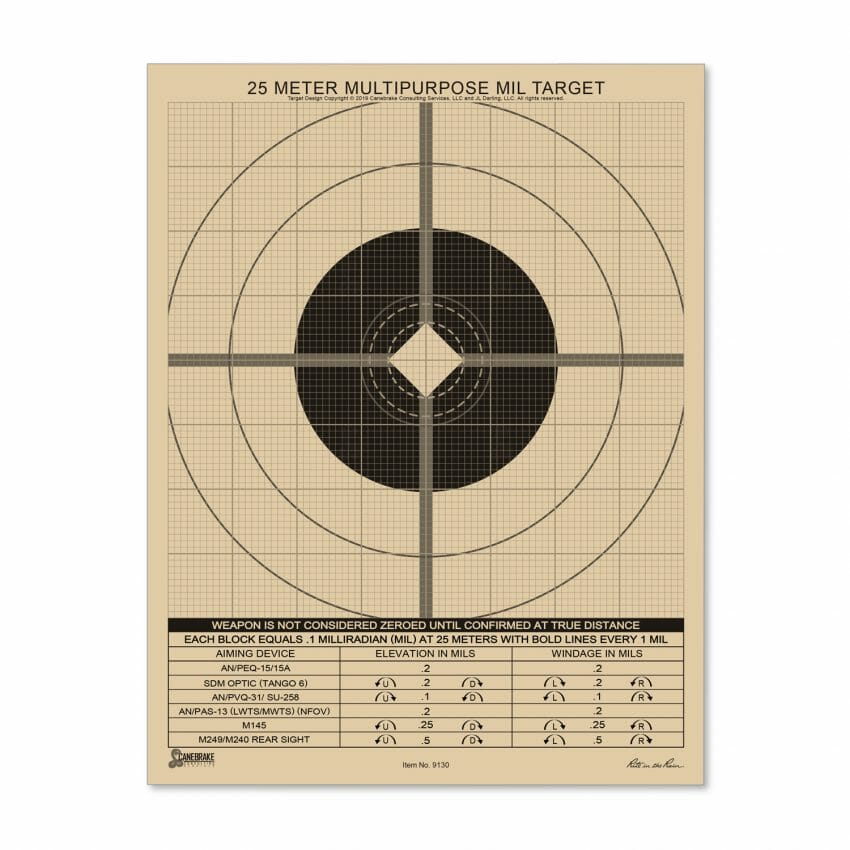All-Weather 25M Multipurpose Target, MIL Grid Hunting, shooting sports, targets Hunting News