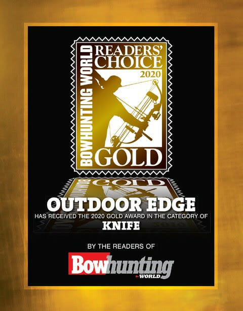 Outdoor Edge receives Bowhunting World's Readers' Choice Gold Award for Knives bowhunting, knives Archery News