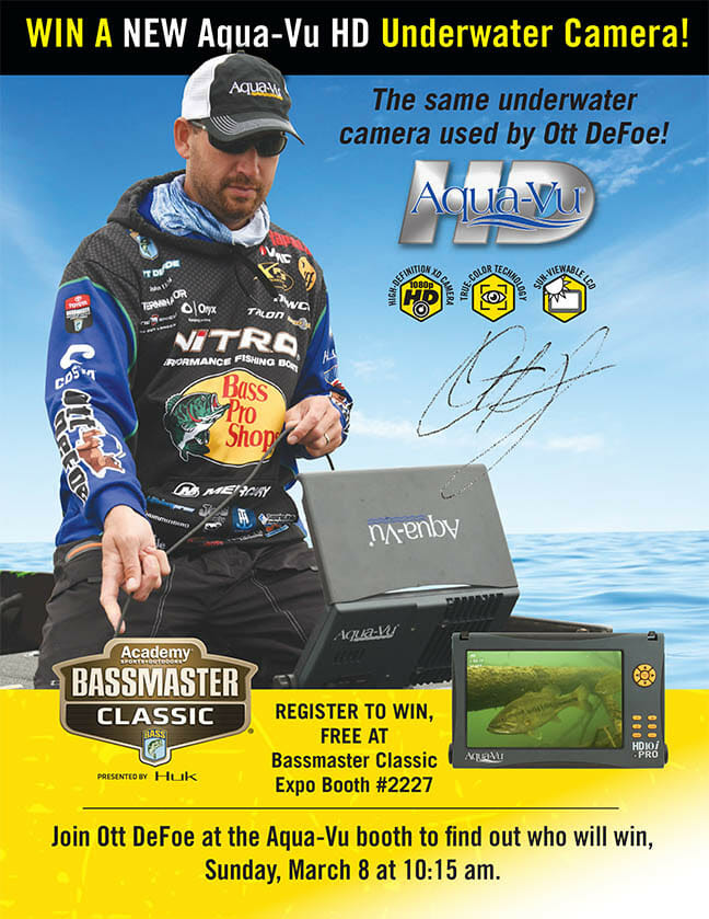 Ott DeFoe to Give Away High-Definition Aqua-Vu Underwater Camera fishing Fishing & Boating News