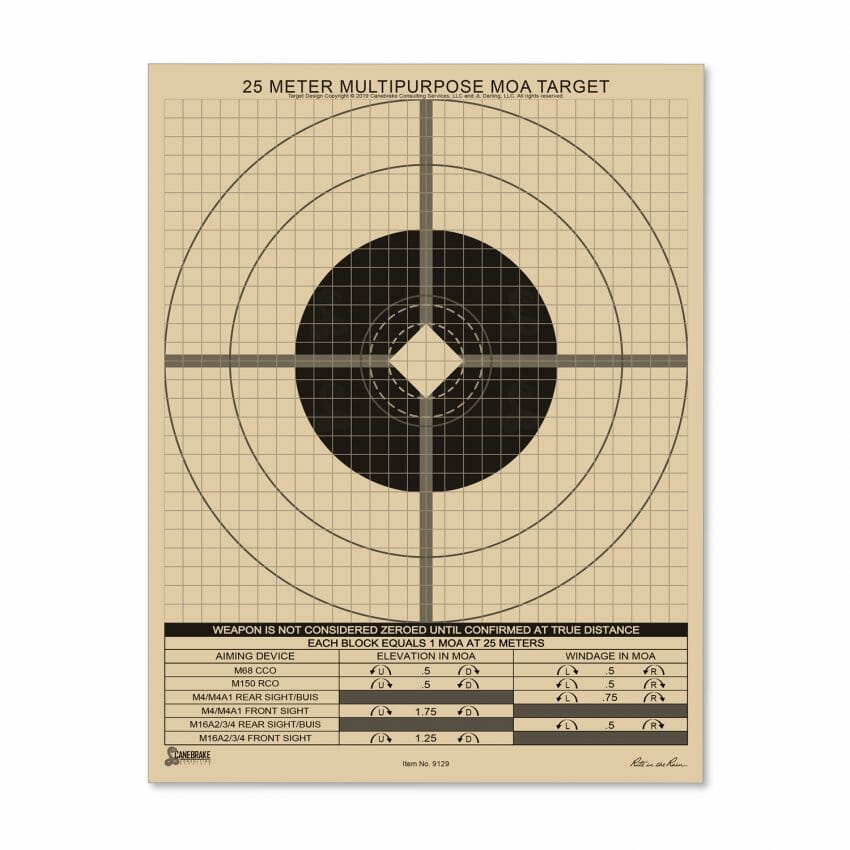 All-Weather 25M Multipurpose Target, MOA Grid Hunting, shooting sports Firearms News