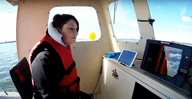 The Coolest Teacher on Earth? boating electronics, sonar Fishing & Boating News