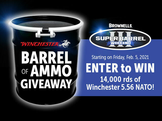 Brownells Giving Away 14K Rounds of 5.56 in Super Barrel III ammo Firearms News
