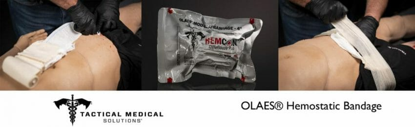 TacMed Introduces Industry-Leading OLAES Hemostatic Bandage medical kit, survival gear Outdoors News
