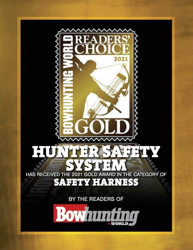 Hunter Safety System Receives Bowhunting World's Reader's Choice Gold Award for Safety Harnesses bowhunting, safety harness Archery News