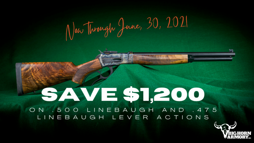 Special on .500 and .475 Linebaugh Lever-Action Rifles big bore rifles, firearms Firearms News